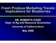 Fresh Produce Marketing Trends: Implications for Blueberries