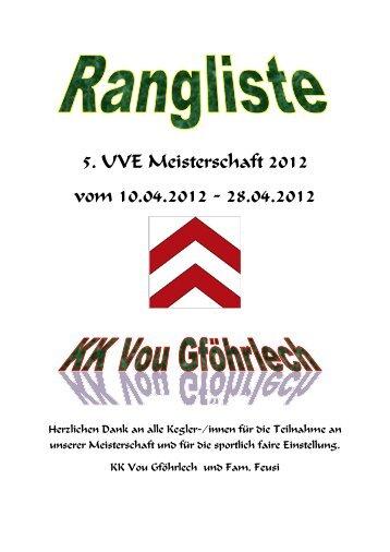 5. UVE MS 2012 - Unterverband Entlebuch der SFKV