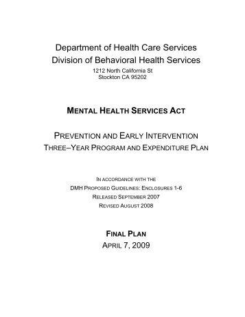 San Joaquin County PEI Plan - Mental Health Services Oversight ...