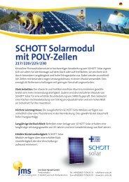 SCHOTT Solarmodul mit POLY-Zellen - jms Solar Handel GmbH