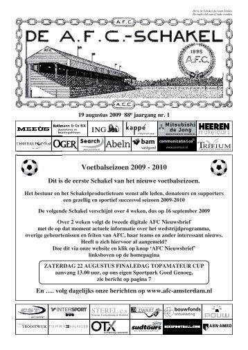 19 augustus 2009 88e jaargang nummer 1 - AFC, Amsterdam