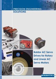SOLUTIONS Baldor AC Servo Drives for Rotary and ... - Andantex UK