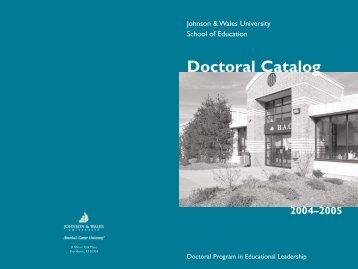 2004-05 Doctoral catalog - Johnson & Wales University