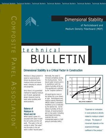 CPA tech Bulletin DIM.QXD - Composite Panel Association