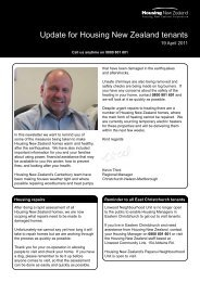 Update to Tenants Issue 8 - 19 April 2011 - Housing New Zealand