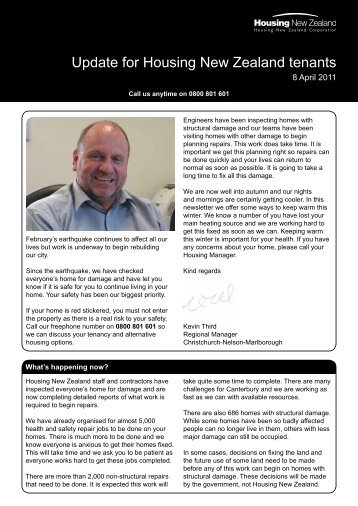 Update to Tenants Issue 7 - 8 April 2011 - Housing New Zealand