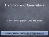 Iterators and Generators - Alex Martelli
