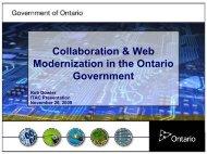 Collaboration & Web Modernization in the Ontario Government