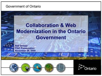 Collaboration & Web Modernization in the Ontario Government