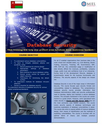 Database Security_v1 1.pdf - MIEL eSecurity Pvt. Ltd.
