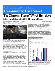 Results from the 2012 Homeless Census - University of Arkansas