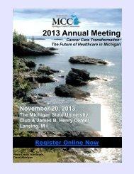 2013 MCC Annual Meeting - Michigan Cancer Consortium
