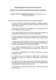 Arrêté n°387 du 31 juillet 2006 relatif aux essais ... - Santé-DZ