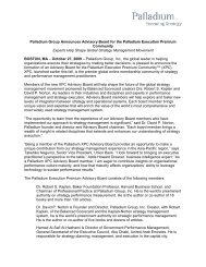 Palladium Group Announces Advisory Board for the Palladium ...