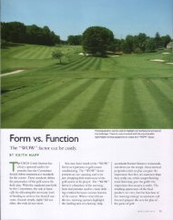 Form vs. Function - USGA Green Section Record
