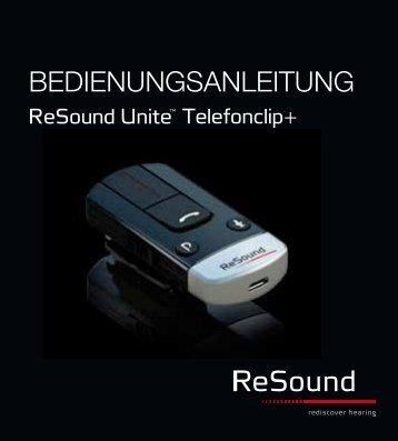 Unite Phone Clip+ - Bedienungsanleitung - ReSound