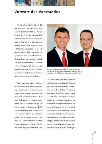 Vorwort des Vorstandes 5 - Sparkasse Neunkirchen