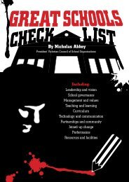 Great Schools Checklist - VICCSO