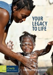 YOUR LEGACY TO LIFE - Christian World Service