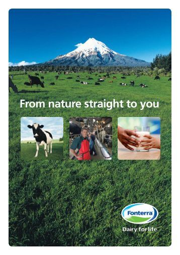From nature straight to you - Fonterra