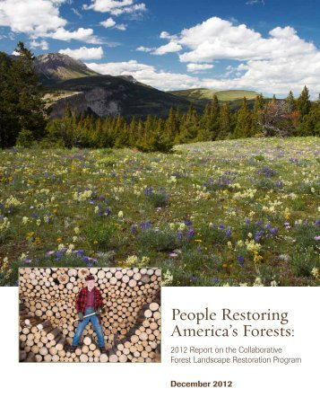 People Restoring America's Forests: - Society of American Foresters