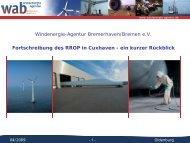 Windenergie-Agentur Bremerhaven/Bremen e.V. ... - wab.biz