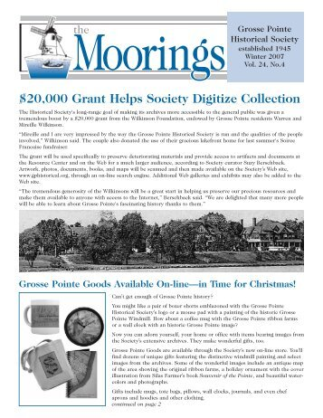 2007 Winter - Grosse Pointe Historical Society