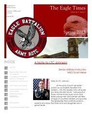 Becoming our Commander - University of Wisconsin  La Crosse