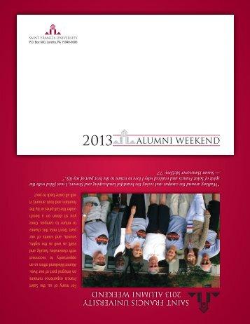 2013 Alumni Weekend Brochure - Saint Francis University
