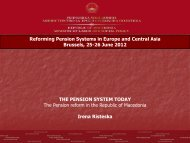 Reforming Pension Systems in Europe and Central ... - Destree.be