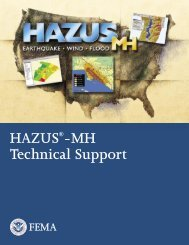 HAZUS-MH - Technical Support Guidance