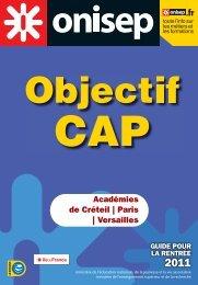 Objectif CAP - SBSSA - Académie de Versailles