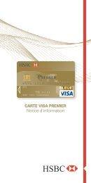 Télécharger la notice d'assistance Visa Premier 2013 - HSBC