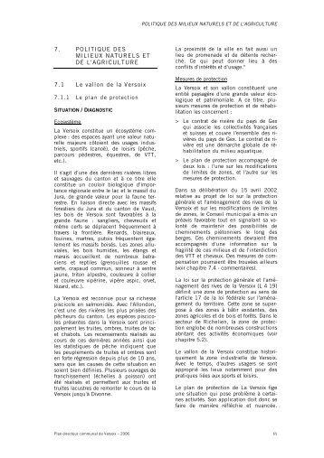 7. POLITIQUE DES MILIEUX NATURELS ET DE L'AGRICULTURE ...