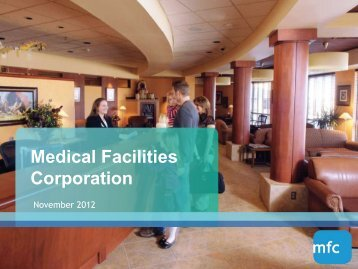 Medical Facilities Corporation - TMXmoney