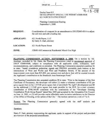 development special use permit #2008-0008 - City of Alexandria