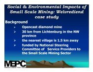 Social & Environmental Impacts of Small Scale Mining: Welvrediend ...