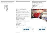 6. Symposium Lagerung und Transport radioaktiver Stoffe - TÜV Nord