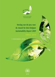 2010 - Award for Best Belgian Sustainability Report