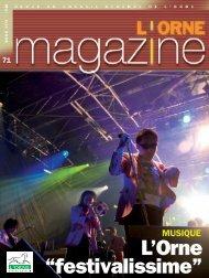 Orne Magazine n°71 - Conseil Général de l'Orne