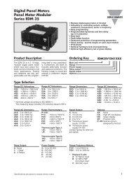Digital Panel Meters Panel Meter Modular Series EDM 35