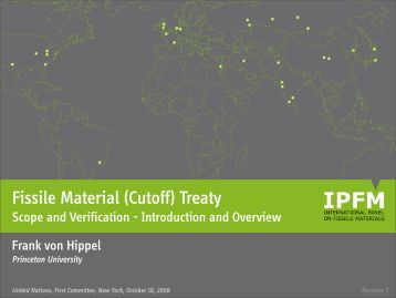 Fissile Material (Cutoff) Treaty - International Panel on Fissile Materials