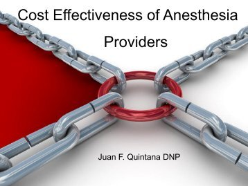 Cost Effectiveness and Anesthesia Providers