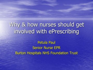 Why and how nurses should get involved (PDF, 6.62Mb) - NHS ...