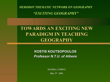 Towards a New Paradigm - HERODOT Network for Geography in ...