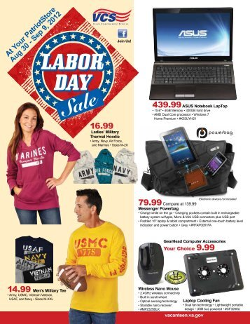 Labor Day Labor Day Sale - Veterans Canteen Service