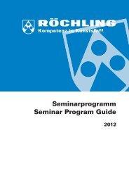 Seminarprogramm Seminar Program Guide
