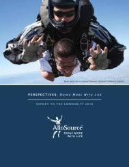 2010 Annual Report to the Community - AlloSource