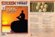 Hinduism Today, April 2008 - Cover, Index, Front Articles