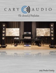 Catalog March 2013_F.. - Cary Audio Design